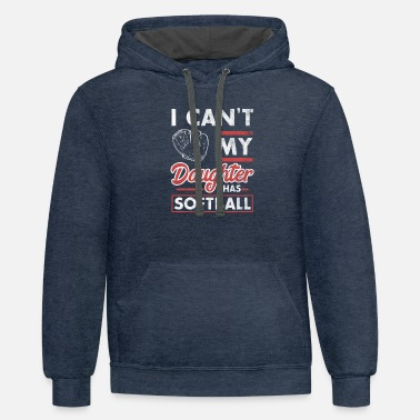 Daughter I cant my daughter has softball tee for mothers - Unisex Two-Tone Hoodie
