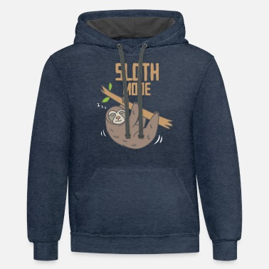 Nap Sloth Mode Animal Lover Lazy Mammal Gift - Unisex Two-Tone Hoodie