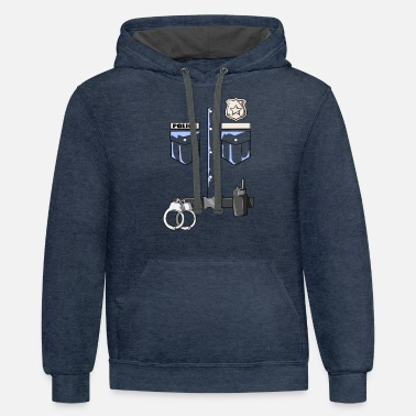 Police - Police Uniform For Children - Unisex Two-Tone Hoodie