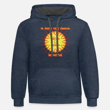In the center of all rests the sun - Unisex Two-Tone Hoodie