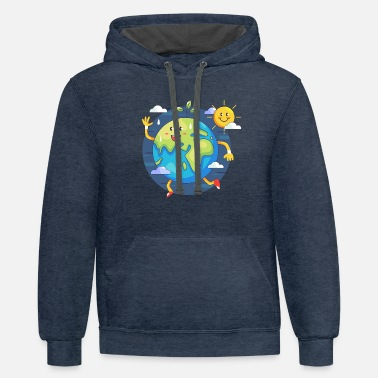 funny earth day - Unisex Two-Tone Hoodie
