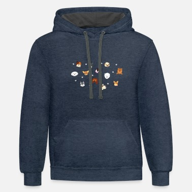 Cute Cute Dog Pattern for Dog Lovers - Unisex Two-Tone Hoodie