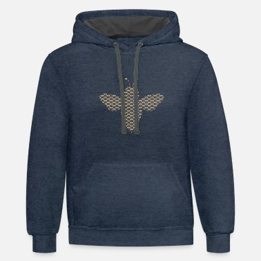Bee A bee of bee pattern - Unisex Two-Tone Hoodie