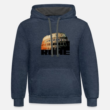 Colosseum Rome Italy Colosseum Present - Unisex Two-Tone Hoodie