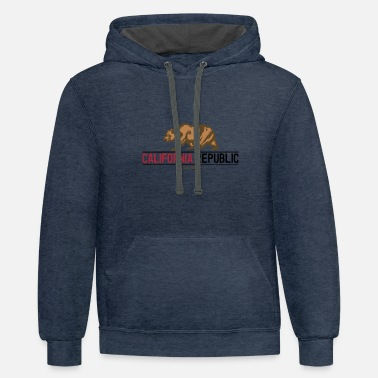 California California Republic - Unisex Two-Tone Hoodie
