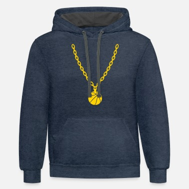 Chain Basketball Gold Chain - Unisex Two-Tone Hoodie