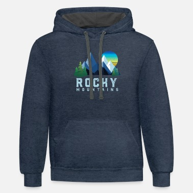 Rocky Mountains Vintage Rocky Mountains Retro National Park - Unisex Two-Tone Hoodie