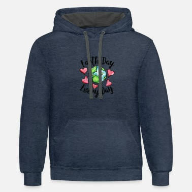 Earth Day earth day every day - Unisex Two-Tone Hoodie