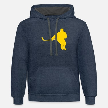 Player hockey player - Unisex Two-Tone Hoodie