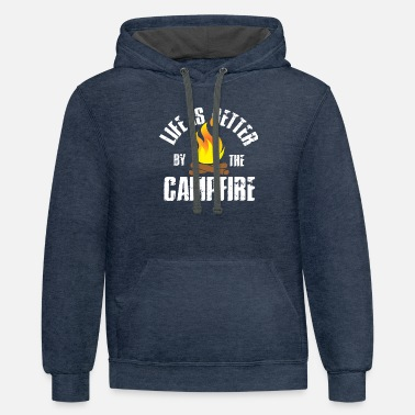 Campfire Life Is Better By The Campfire - Unisex Two-Tone Hoodie