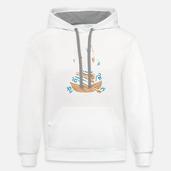Quotes Hoodies & Sweatshirts - I'm On A Boat Gift - Unisex Two-Tone Hoodie white/gray