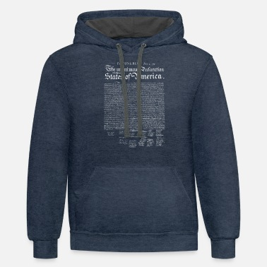 Thomas Jefferson US Declaration of Independence (dark) - Unisex Two-Tone Hoodie