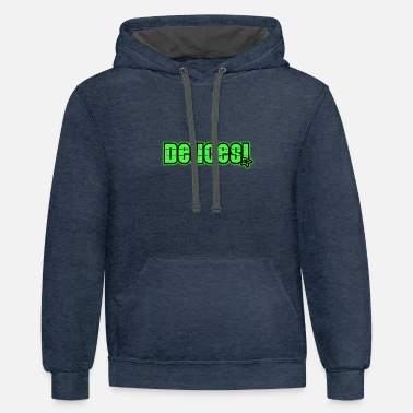 Green Text Deuces Green Text - Unisex Two-Tone Hoodie