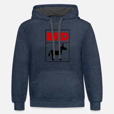Bad Bad Ass - Unisex Two-Tone Hoodie