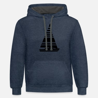 Boat Sailing Sailing Boat Sail Boat - Unisex Two-Tone Hoodie