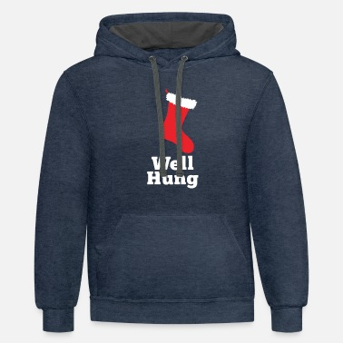 Well Hung Well Hung - Unisex Two-Tone Hoodie