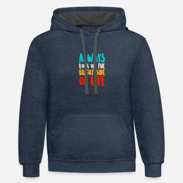 Bright bright life - Unisex Two-Tone Hoodie