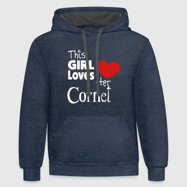 This Girl Loves Her Cornet - Contrast Hoodie