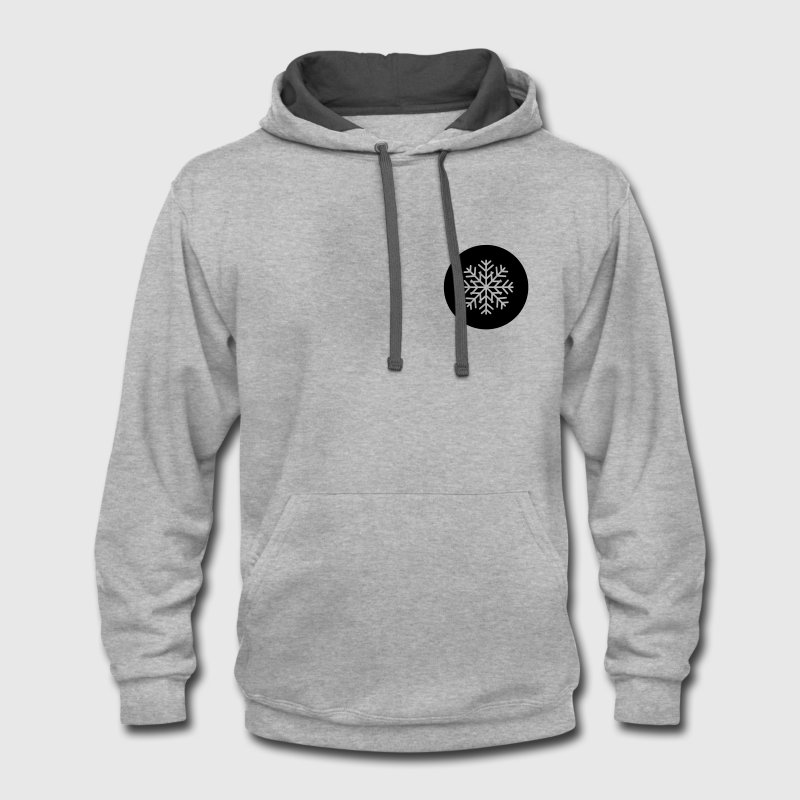 Snowflake Patch - Contrast Hoodie