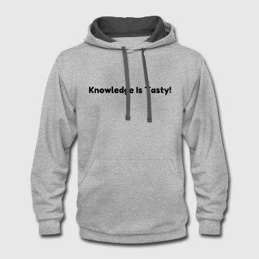 Graduation Knowledge is tasty - Contrast Hoodie