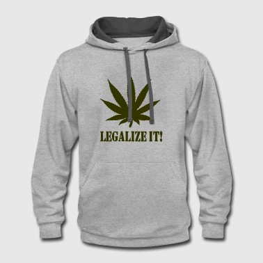 Legalize It - Contrast Hoodie
