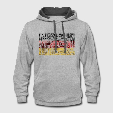 Germany Flag Flag Germany - Contrast Hoodie