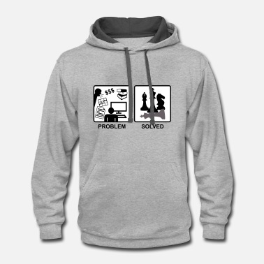 Chess solves problems - Contrast Hoodie