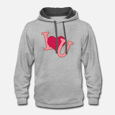 Cuore I love you - Contrast Hoodie