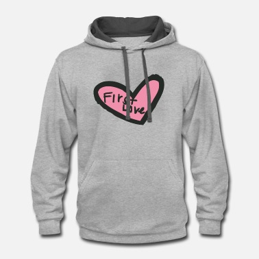 Cuore first love - Contrast Hoodie