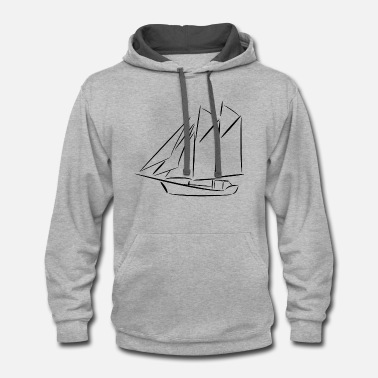 Yacht Ship - yacht - ketch - Contrast Hoodie