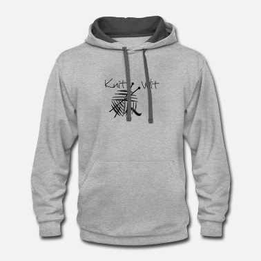 Witty WITTY KNITTER - Contrast Hoodie