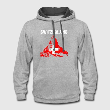 Nation-Design Switzerland Matterhorn ow18 - Contrast Hoodie