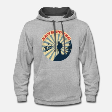 Hiker Gift T-shirt (for mounting people ) - Contrast Hoodie