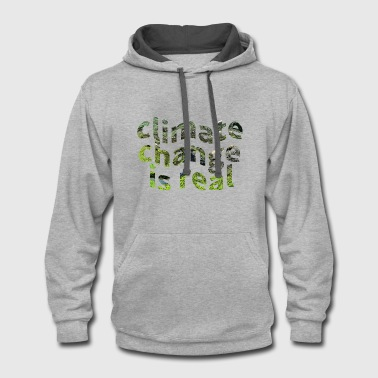 Global Warming Climate Change Protest  - Contrast Hoodie