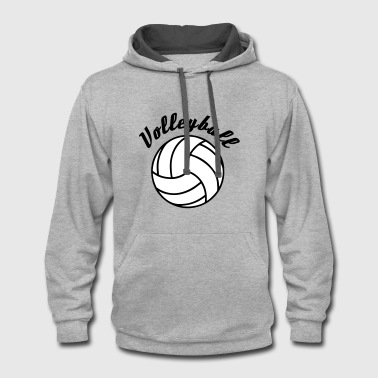 Volleyball Design - Contrast Hoodie