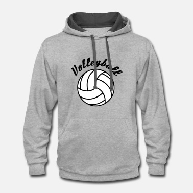 Volleyball Volleyball Design - Contrast Hoodie