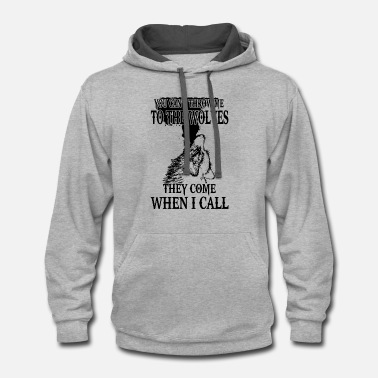 Finn Wolfhard you can t throw me to the wolves they come when i - Contrast Hoodie