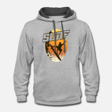 Theme Surf in the beach - Contrast Hoodie