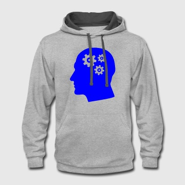 Brain | Head full of thoughts | Mind | Idea - Contrast Hoodie