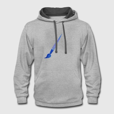 Paint Brush paint brush - Contrast Hoodie