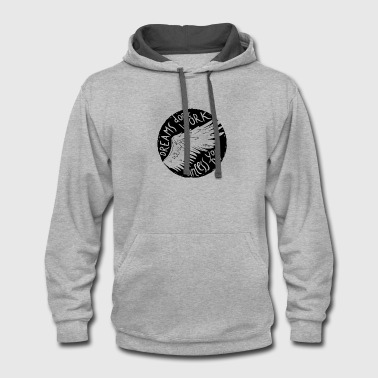 Stamps Dreams don't work unless you do - Work Hard - Contrast Hoodie