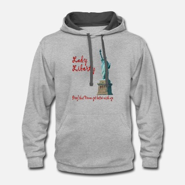 Lady Liberty lady liberty - Contrast Hoodie