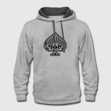 Ace of Spades  Playing - Contrast Hoodie