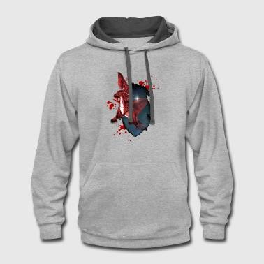 Little red Dragon - Contrast Hoodie
