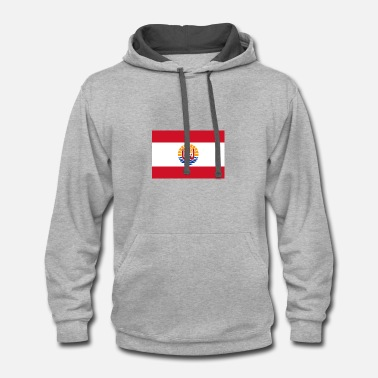 Tahiti National Flag Of French Polynesia - Contrast Hoodie