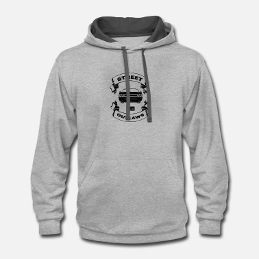 Outlaw street outlaws - Contrast Hoodie