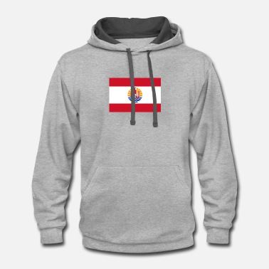 Polynesia National Flag Of French Polynesia - Contrast Hoodie