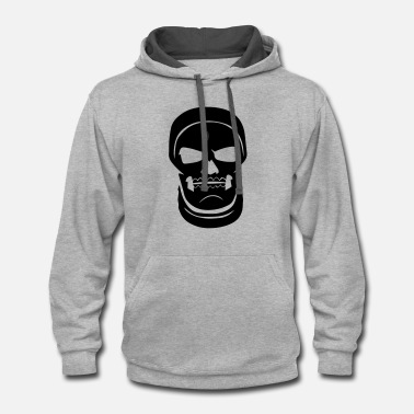 Trooper Skull Trooper Face - Fort nite Battle Royale - Contrast Hoodie