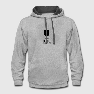 Fragile Fragile handle with care - gift ideas - Contrast Hoodie