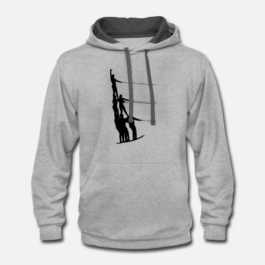 Water Sports Water Ski Water Sports - Contrast Hoodie